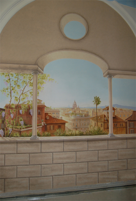 1000 images about trompe l 39 oeil graining on pinterest for Deco trompe l oeil mural